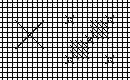 Crossed Corners stitch diagram