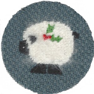 needlepoint sheep stitched with Alpaca thread