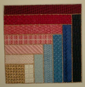 Log Cabin Needlepoint Stitch Sampler