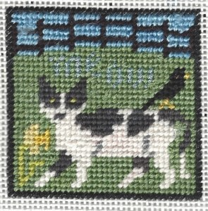 prairie schooler cat needlepoint