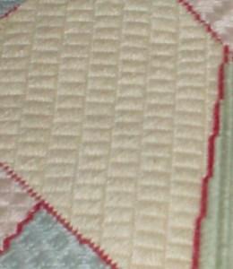 Yoshigire Cashmere Stitch sampler patch