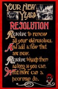 new year's resolution postcard