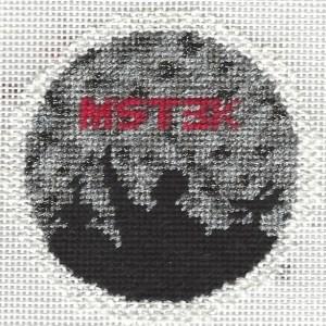MST3K needlepoint ornament