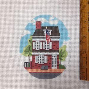 betsy ross house needlepoint canvas