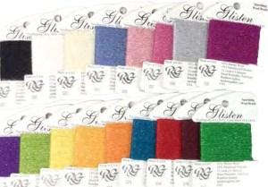 glisten thread on cards