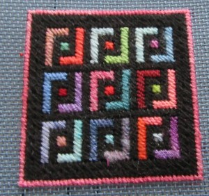 Implied Square Scrap Bag needlepoint