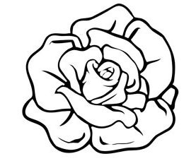 photo about Roses Templates Printable named absolutely free-printable-rose-condition-template-610x229 Insane more than