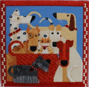 dogs needlepoint canvas