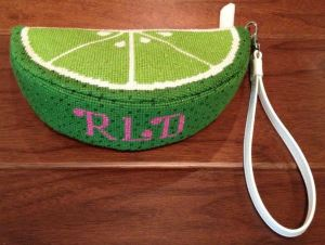 lime wedge purse