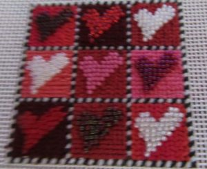 Mindy's Nine Hearts Stitch Guide