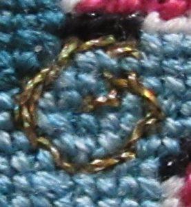 stem stitch spiral