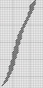 diagonal Bargello pattern