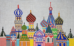 russian architecture needlepoint canvas