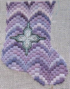 Medallion Bargello Mini-sock Free Pattern