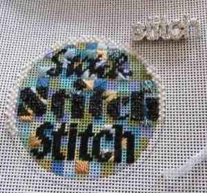 Mindy stitch needlepoint round