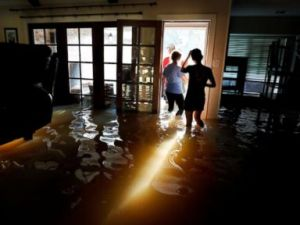Flooded home from Hurricane Harvey