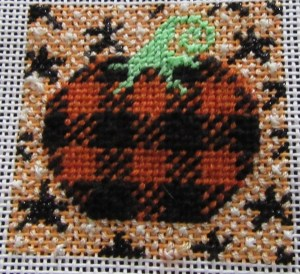 mindy pumpkin mini needlepoint