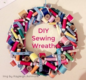 sewing wreath