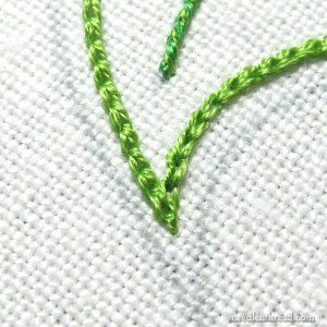 Sharp Corners with Chain Stitch