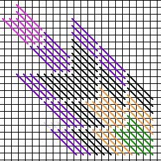 Barn Quilt Star Chart, upper left