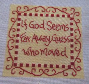 Cooper Oaks saying needlepoint canvas