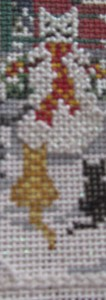 cat-snow day needlepoint from Needle Crossingsa
