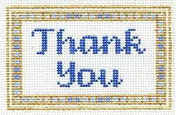 thank you keepsake needlepoint from Laurel Wheeler
