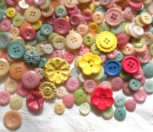 dyed new and vintage buttons