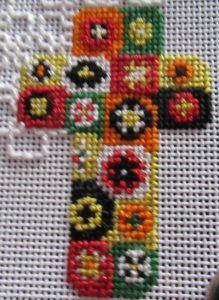 millefiori cross needlepoint