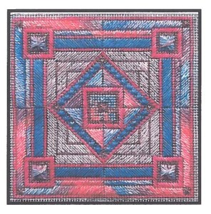 Stained Glass Square by Laura Perin