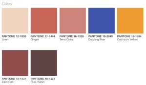 pantone spring/summer 2019 palette