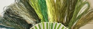 Straw Silk thread greens