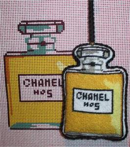needlepoint perfume bottle