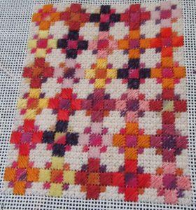 needlepoint quilt portrait
