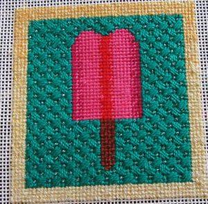 Little Bird Popsicle needlepoint