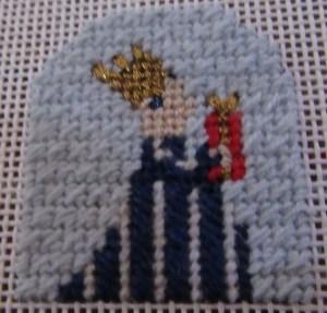 Princess & Me needlepoint nativity king