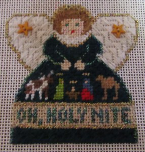 Painted Pony nativity mini-angel needlepoint