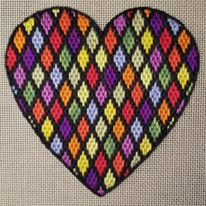bargello needlepoint heart