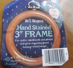 wt rogers wood ornament frame label