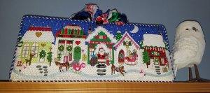 Christmas Village Needlepoint