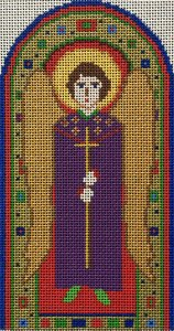 needlepoint Byzantine angel by Fiori