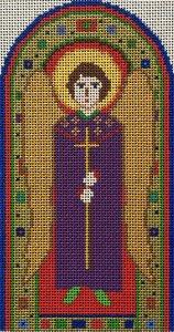 needlepoint Byzantine angel by Fiori