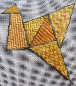 byzantine stitch needlepoint sampler