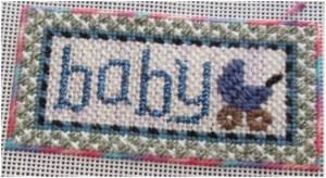 Kathy Schenkel baby needlepoint