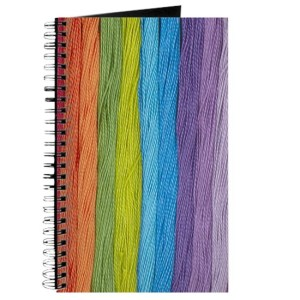 colorful thread journal from CafePress