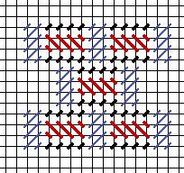Pangor cashmere needlepoint stitch
