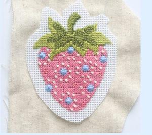 fabric back on needlepoint