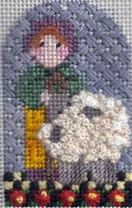 Needledeeva nativity girl shepherd with sheep