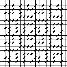 Wonky Squares Needlepoint Damask Chart