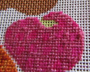 needlepoint heart damask tent stitch pattern